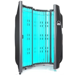 Standup tanning capsule at Solisa Tanning in Nanaimo