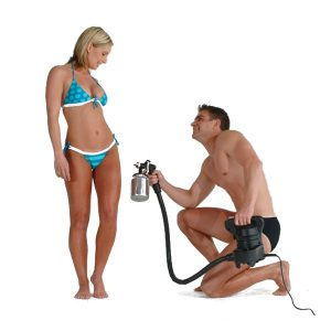 Spray tanning services available at Solisa Tanning in Nanaimo, BC